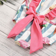Load image into Gallery viewer, 2020 Toddler Kids Baby Girls Ruffle Stripe Bikini Beach Summer Swimsuit - shopbabyitems