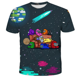 2020 new 3D Game Among Us Printed T-shirt Short Sleeve Kids Boys Girls Casual Tops Tees Toddler Children Colorful Camiseta - shopbabyitems
