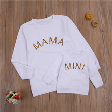 Load image into Gallery viewer, 2021 Spring Autumn Mom and Me Family Matching Sweatshirt Baby Girls Letter Print Long Sleeve Pullover Top Hoodie Clothes - shopbabyitems