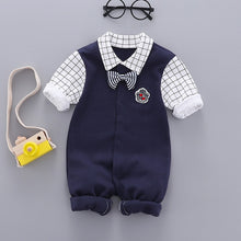 Load image into Gallery viewer, 2021 new Baby Boy Romper Newborn Baby Clothes Casual Long Sleeve Gentleman boys 1th birthday party Jumpsuits infant Costume - shopbabyitems
