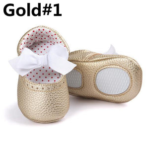 Newborn Baby Girl Soft Sole Faux Leather Crib Shoes Anti-slip Prewalker 0-18M - shopbabyitems