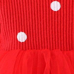 baby girls thick winter dresses children clothing kid polka dot long sleeve velvet dress for girls - shopbabyitems