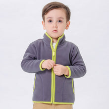Load image into Gallery viewer, Fashion Children Boy Girl Zippered Stand-up Collar Warm Fleece Coat Jacket Top - shopbabyitems