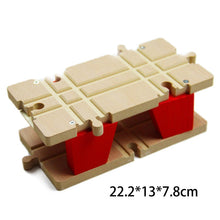 Load image into Gallery viewer, 22.2*13*7.8cm Red Rotating Bridge Wooden Train Track Accessories  Railway Train Toys - shopbabyitems