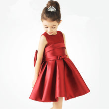 Load image into Gallery viewer, European and American flower girl dress wine red dark green - shopbabyitems