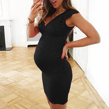 Load image into Gallery viewer, V-neck lace sleeveless maternity dress - shopbabyitems