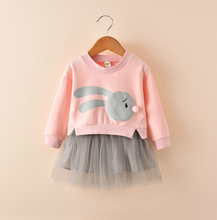 Load image into Gallery viewer, New spring infant skirt 1 long sleeved dress 2 female baby cartoon - shopbabyitems