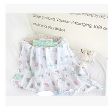 Load image into Gallery viewer, Cotton gauze blanket baby blanket muslin cotton quilt quilt newborn gauze bag towel - shopbabyitems