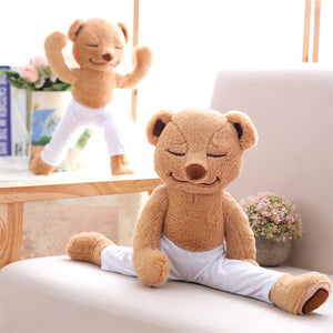 40cm Creative Yoga Bear Plush Toy Stuffed Cute Yoga Bear Doll - shopbabyitems