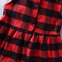 Load image into Gallery viewer, Toddler Dress Baby Girl Plaid Ruffled Sleeveless Outfits Princess Party Clothes - shopbabyitems