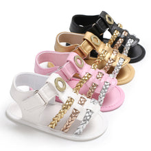 Load image into Gallery viewer, Newborn Infant Toddler Baby Girl Braided Faux Leather Crib Shoes Sandals Gift - shopbabyitems