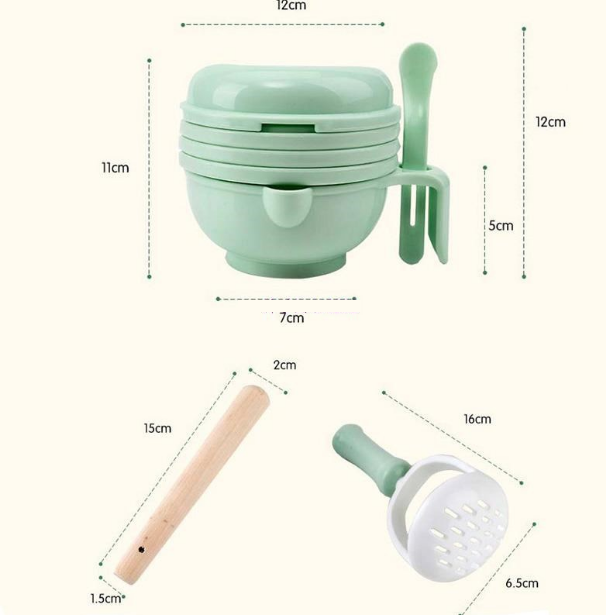 Baby multi-function food grinding tableware - shopbabyitems
