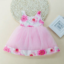 Load image into Gallery viewer, Fashion Baby Girl Flowers Printed Bowknot Sleeveless Veil Dress Party Outfits - shopbabyitems