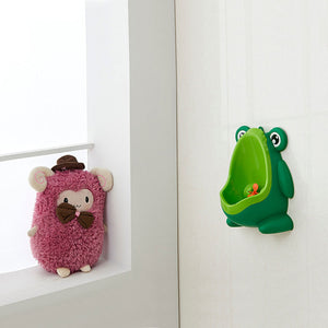 Baby Boy Potty Toilet Training Frog Children Stand Vertical Urinal Wall-Mounted - shopbabyitems