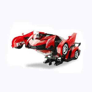 2In1 RC Car Sports Car Transformation Robots Models Remote Control Deformation Car RC fighting toy KidsChildren's Birthday GiFT - shopbabyitems