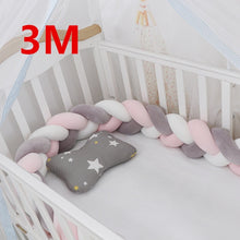 Load image into Gallery viewer, 2M/1M/3M Baby Bed Bumper Baby Braided Crib Bumpers - shopbabyitems
