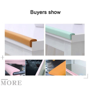 2M Soft Baby Safety Desk Table Edge Guard Strip Security L-Shaped Kids Protection Bumper Edge Angle Home Anti-collision Strip - shopbabyitems