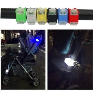 2PCS Baby Stroller Night Light Waterproof Silicone Caution lamp Outdoor Security Safety Alert LED Flash remind Caution Lamp - shopbabyitems