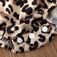 Load image into Gallery viewer, 2PCS Infant Baby Girl Leopard Romper Jumpsuit Clothes Outfits Summer 0-24M - shopbabyitems