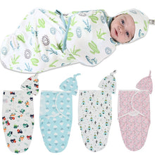 Load image into Gallery viewer, 2Pcs/Set Muslin Baby Swaddle Diaper 100% Cotton Infant Newborn Thin Baby Wrap Envelope Swaddling Swaddleme Sleep Bag Sleepsack - shopbabyitems