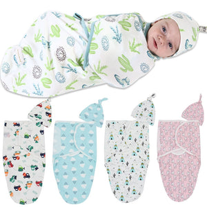 2Pcs/Set Muslin Baby Swaddle Diaper 100% Cotton Infant Newborn Thin Baby Wrap Envelope Swaddling Swaddleme Sleep Bag Sleepsack - shopbabyitems