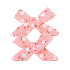 2Pcs/set 3inch Boutique Grosgrain Ribbon Printed Bows With Clips - shopbabyitems