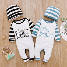 Load image into Gallery viewer, 2Piece Winter Cotton Baby Boy Clothes Set Long Sleeve Romper+Hat Letter Print Kids Clothing for Newborn Fall Baby Outfits D30 - shopbabyitems
