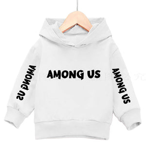 3-14Years Among Us Boys Hoodies Impostor 100% Cotton Streetwear New Video Game kids Sweatshirt Girls Among Us Children Hoodie - shopbabyitems
