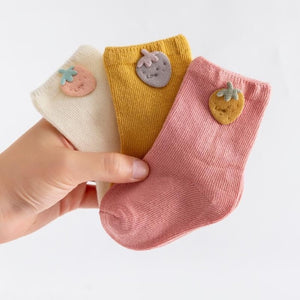 3 Pairs/Lot Baby Cotton Socks Cartoon Patch Socks Boy Socks Girl Socks Newborn Soft Socks Kids Clothing - shopbabyitems