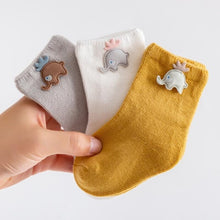 Load image into Gallery viewer, 3 Pairs/Lot Baby Cotton Socks Cartoon Patch Socks Boy Socks Girl Socks Newborn Soft Socks Kids Clothing - shopbabyitems