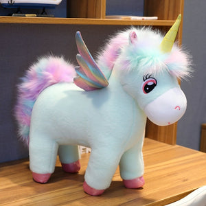30~80cm Unique Glowing Wings Unicorns Plush toy Giant Unicorn Stuffed Animals Doll - shopbabyitems