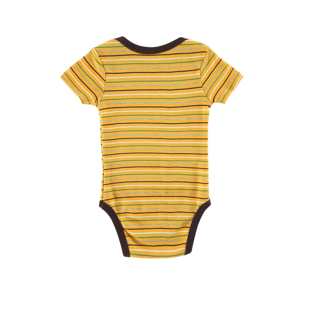 Newborn Baby Kids Boys Striped Romper Jumpsuit Bodysuit Cotton Clothes Gift - shopbabyitems