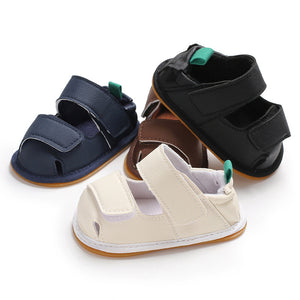 Magic Tape Faux Leather Baby Shoes Toddler Boy Girl Casual Hollow Crib Prewalker - shopbabyitems
