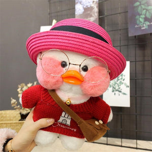 30cm Cartoon Cute LaLafanfan Cafe Duck Plush Toy Stuffed Soft Kawaii Duck Doll Animal Pillow Birthday Gift for Kids Children - shopbabyitems