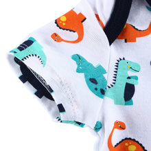 Load image into Gallery viewer, Infant Boys Girls Short Sleeve Romper Baby Cartoon Dinosaur Soft Cotton Jumpsuit - shopbabyitems