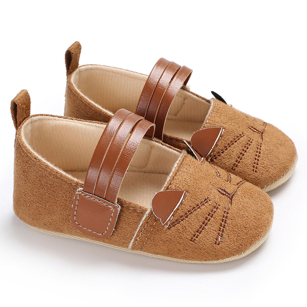Newborn Infant Baby Boys Girls Casual Soft Sole Cat Prewalker Crib Shoes - shopbabyitems