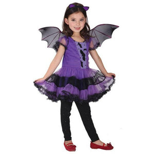 Baby Girl Halloween Dress+Hair Hoop+Bat Wing Outfit - shopbabyitems