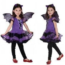 Load image into Gallery viewer, Baby Girl Halloween Dress+Hair Hoop+Bat Wing Outfit - shopbabyitems
