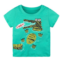 Load image into Gallery viewer, Cartoon Print Baby Boys Dinosaur T-Shirt - shopbabyitems