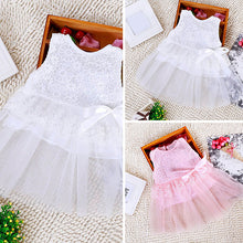 Load image into Gallery viewer, Kids Baby Girls' Floral Lace Bowknot Dress Party Princess Tutu Tulle Dress - shopbabyitems