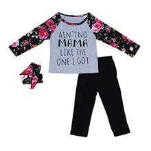 Load image into Gallery viewer, Baby Kids Girls Letters Floral Long Sleeve Autumn Pullover Pants Headband Outfit - shopbabyitems