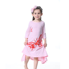 Load image into Gallery viewer, Toddler Baby Girls Long Sleeve Elegant Butterfly Loose Casual Dress Kids Clothes - shopbabyitems