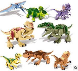 Jurassic Park dinosaur building blocks assembled educational toys 8 bags - shopbabyitems