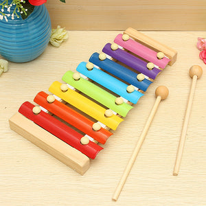Kids Baby Toys 8 Notes Musical Xylophone Piano Multicolor Wooden Instrument Toy - shopbabyitems