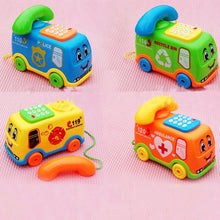 Load image into Gallery viewer, Funny Music Cartoon Bus Phone Educational Developmental Kids Baby Toy Gift - shopbabyitems