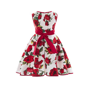 Summer Infant princess dress skirt cherry print dress one generation - shopbabyitems