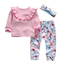 Load image into Gallery viewer, Cartoon Rabbit Pattern Long Sleeve T-shirt+Casual Pants+Headband Infant Clothing Outfits - shopbabyitems