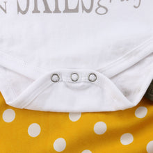 Load image into Gallery viewer, 3Pcs Newborn Baby Girl Cotton Tops Romper Dot Bowknot Pants Outfits Clothes - shopbabyitems