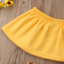 Load image into Gallery viewer, 3Pcs Summer Baby Girls Sunflower Outfits Toddler Kids Off Shoulder Tops+Short Pants+Headband - shopbabyitems