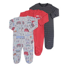 Load image into Gallery viewer, 3Pcs/lot Newborn Baby boy Romper Set Winter 0-12M Baby girl Jumpsuit Clothes 100% Cotton Infants Warm Clothing High Quality kids - shopbabyitems